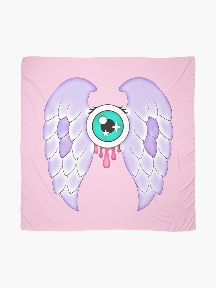 Alternate view of Pastel Goth   Winged Eye   Pink Scarf