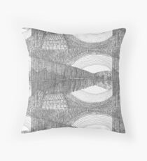 Forrest and Lake at Dusk Throw Pillow