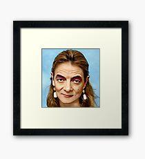 Mr Bean Meme Framed Print