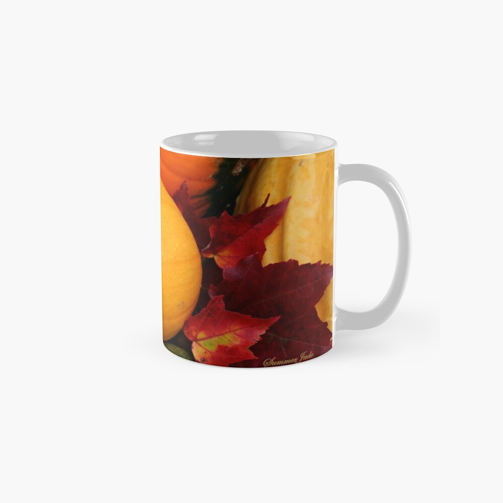 Pumpkins, Gourds and Maple Leaves Mug