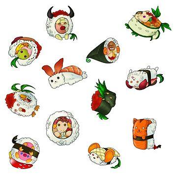 Zodiac sushis by Rem8