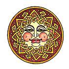 CELTIC SUN FACE by Art History Major