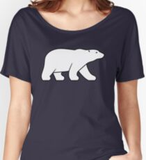 Walking Polar Bear Women's Relaxed Fit T-Shirt