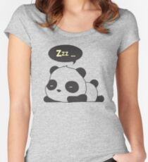 Sleeping panda Women's Fitted Scoop T-Shirt