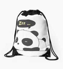 Sleeping panda Drawstring Bag