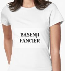 basenji fancier Women's Fitted T-Shirt