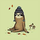 Autumn Sloth by agrapedesign