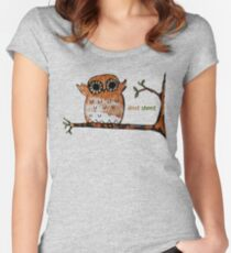 Don't Shoot Owl Women's Fitted Scoop T-Shirt