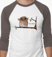 Don't Shoot Owl Men's Baseball ¾ T-Shirt
