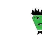 Green Monster with Bow Tie and Fangs by witandwhimsey