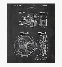 Movie Camera Patent Photographic Print