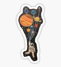 Balloon Spaceman Sticker