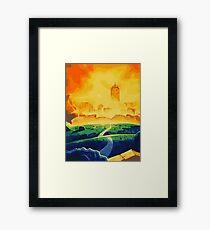 Burning Castle Framed Print