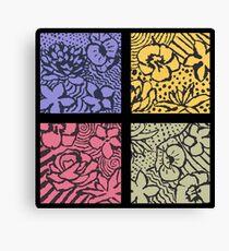 Flower Stencils Canvas Print