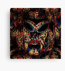 Tribal Warrior Mask Canvas Print