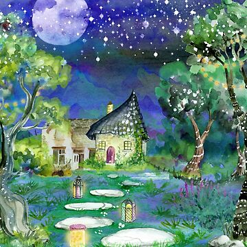 Watercolor Fairy Cottage by crazycanonmom