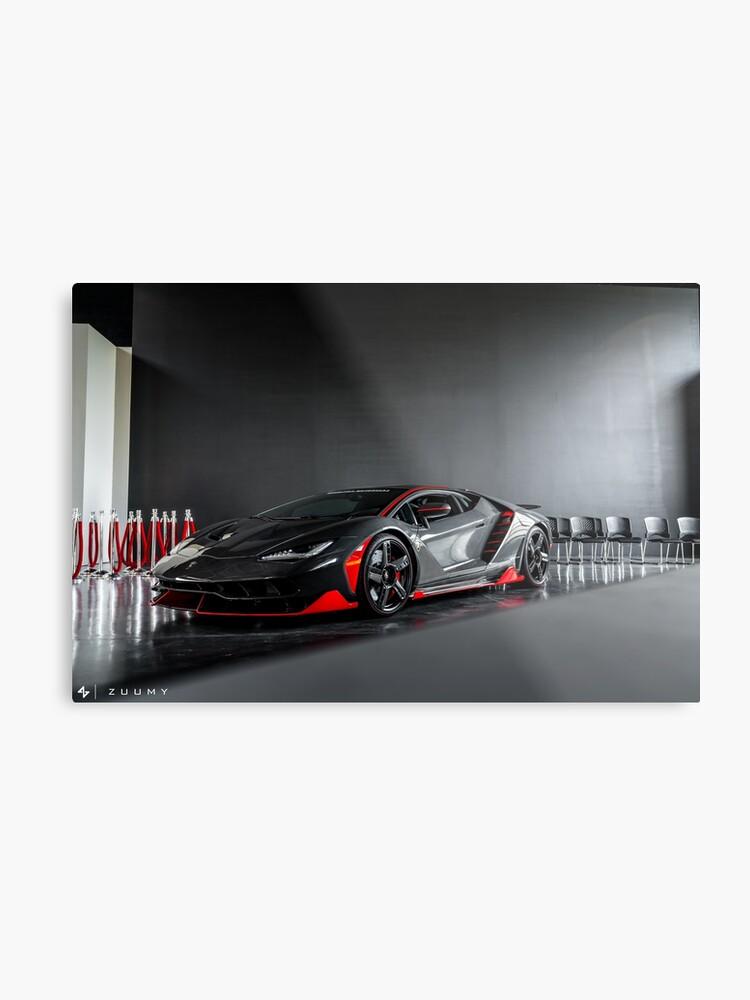 Lamborghini Centenario Metal Print By Zuumy Redbubble