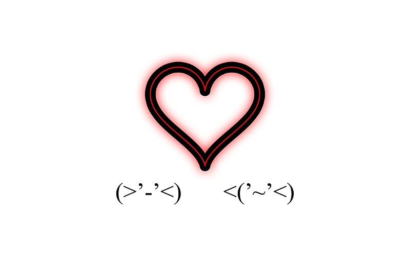 Ascii Art Love Posters By Gingergear Redbubble