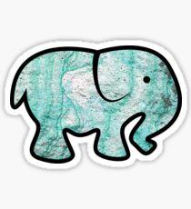 Blue Marble Elephant  Sticker