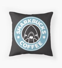 SHARKBUCKS Throw Pillow