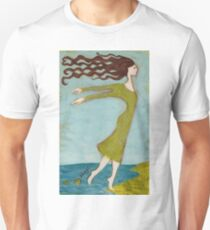 Flying Girl Adapts to New Lands or Fish Lessons T-Shirt