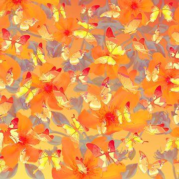 Tangerine borboletas by Pacoredbubble
