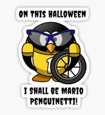 Halloween Penguin Racing Graphic Sticker
