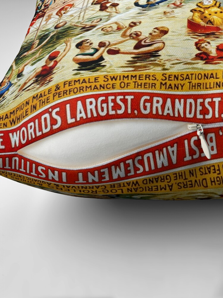 Alternate view of Vintage poster - Circus Throw Pillow