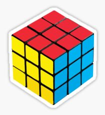 Rubix Cube Hex Sticker Sticker