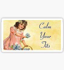 Calm Your Tits Sticker