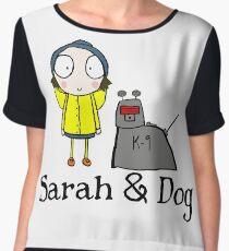 Sarah & Dog Women's Chiffon Top