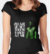 Please Do Not Throw Hands At Me Women's Fitted Scoop T-Shirt