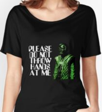 Please Do Not Throw Hands At Me Women's Relaxed Fit T-Shirt