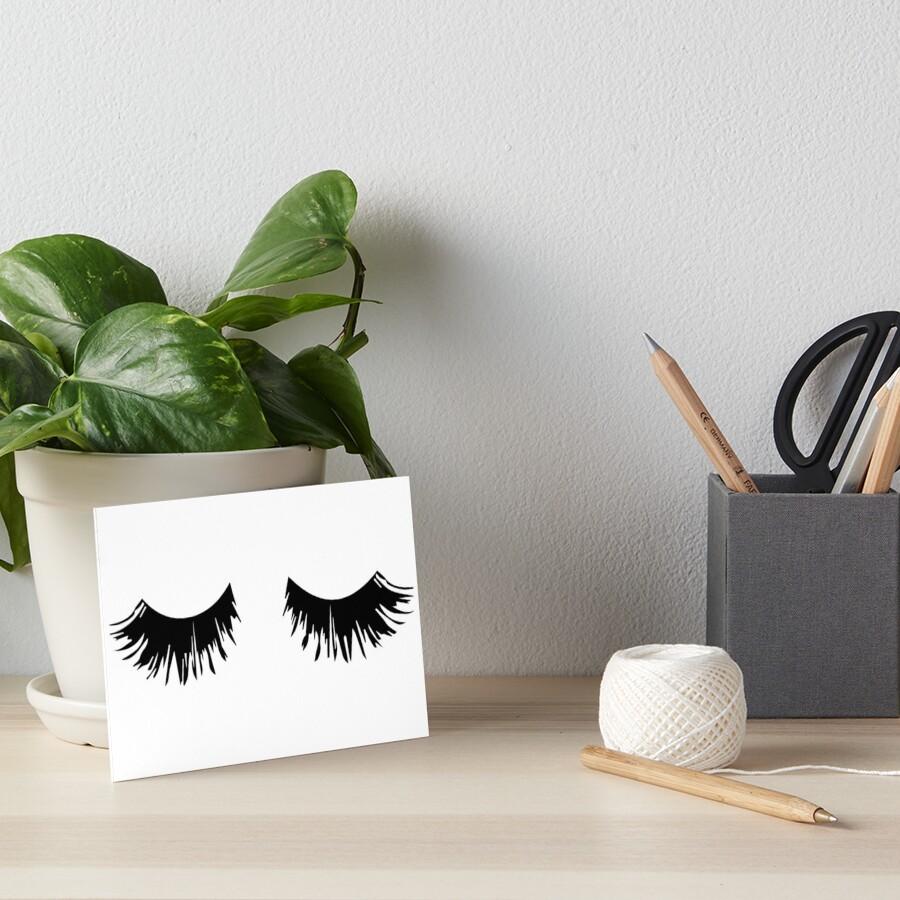 Eyelash Print Art Board Print
