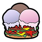 Ice Cream Scoops Burger by Natalie Perkins