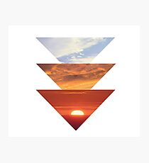 Sunset in triangles  Photographic Print