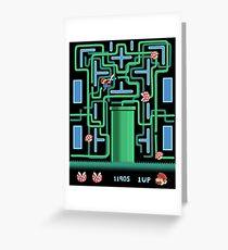 Pac-Mario Greeting Card