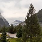 Winding Road in the Mist by Yannik Hay