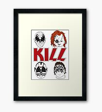 KISS/KILL Framed Print