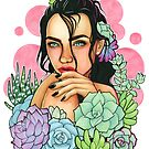 Succulents // Copic Marker Drawing by Ashley Van Dyken