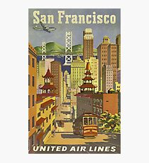 Vintage Travel Poster – San Francisco  Photographic Print
