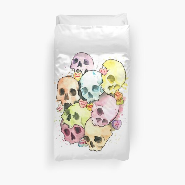 Sweets and Skulls Duvet Cover