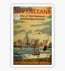 Vintage Travel Poster – New Orleans Sticker