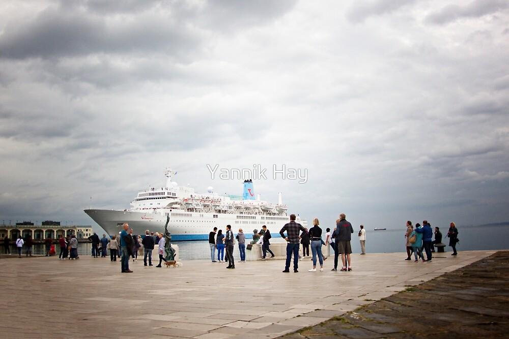 Cruise Boat - Porto Vecchio - Trieste - Italy by Yannik Hay