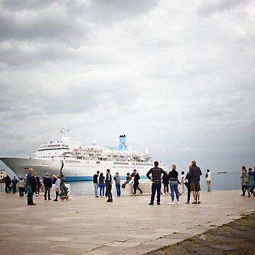 Cruise Boat - Porto Vecchio - Trieste - Italy by Photograph2u