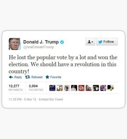 Trump Tweet - Popular Vote Sticker