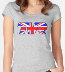 TVR Logo Union Jack Women's Fitted Scoop T-Shirt