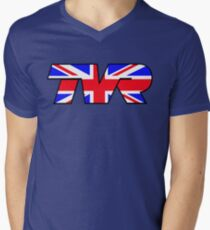 TVR Logo Union Jack Men's V-Neck T-Shirt