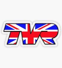 TVR Logo Union Jack Transparent Sticker