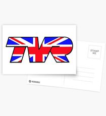 TVR Logo Union Jack Postcards